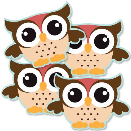 Owl - Look Whooo's Having A Party - Owl Decorations DIY Baby Shower or Birthday Party Essentials - Set of 20 - Owl Birthday Party Supplies