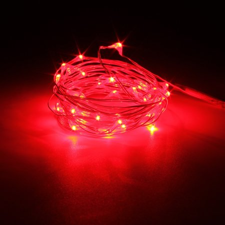 10m Led Night Light String Copper Wire Fairy Battery Waterproof Outdoor