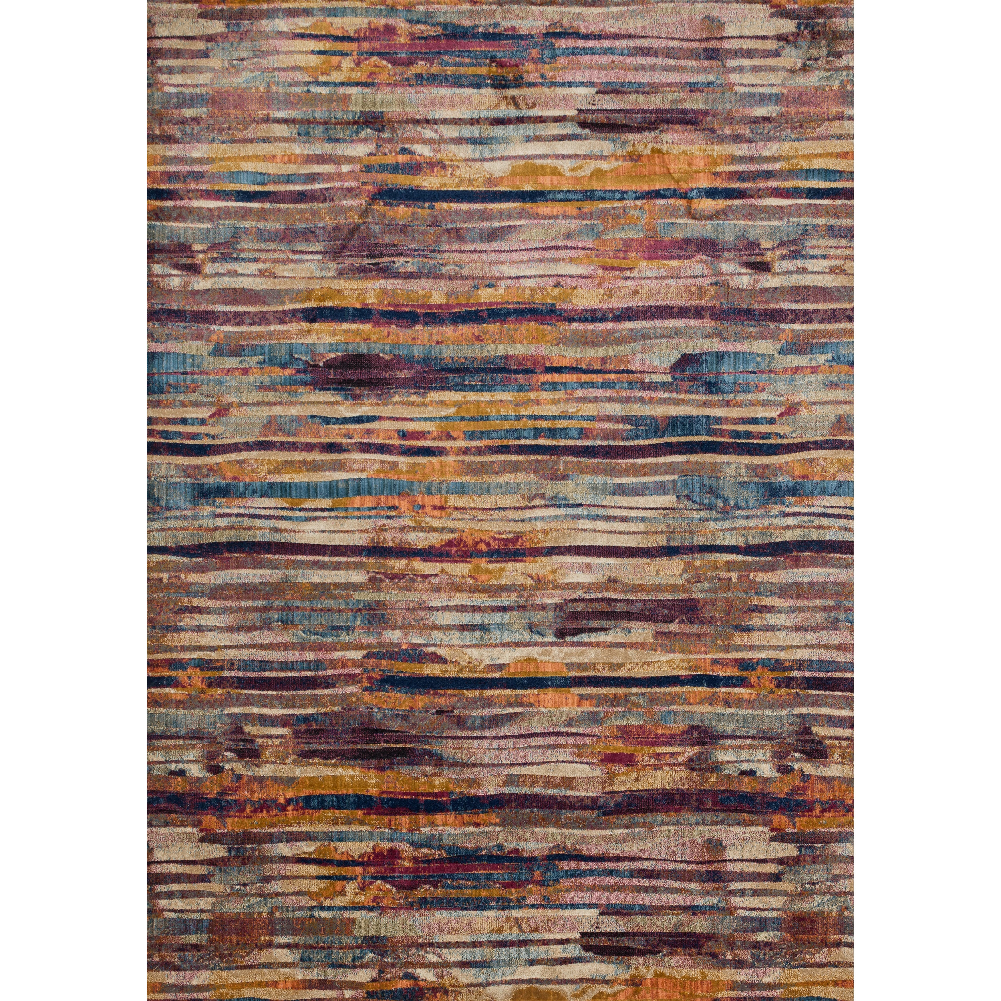Alexander Home Abstract Fuchsia/ Multi Mid-century Rug - 9'2 x 13'