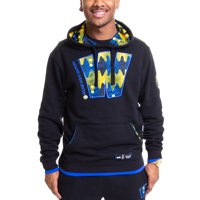 Golden State Warriors Two Hype Original 90's Team Kente Letter Pullover Hoodie - Black