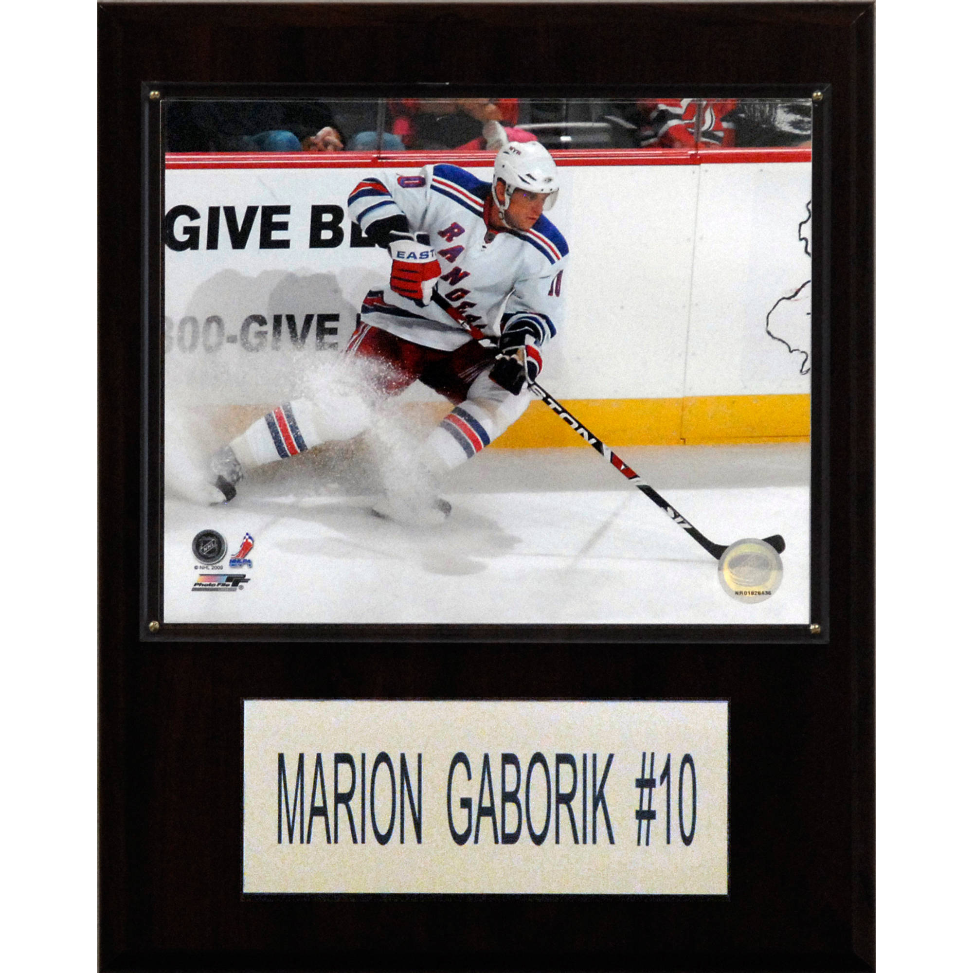 C&I Collectables NHL 12x15 Marian Gaborik New York Rangers Player Plaque