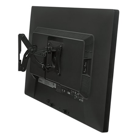 Mount-It! Single, Adjustable, Swiveling, Tilting, and Extending Arm Wall Mount for LCD, OLED, and Plasma TVs Between 10 and 30 Inches (MI-4602)