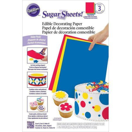 Wilton Multi-Pack Sugar Sheet, 3ct](Sugar Sheets)