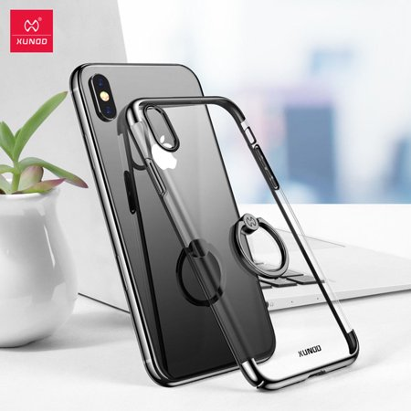 Magnetic Ring Holder Case Wireless Charging Shockproof For iPhone XR XS