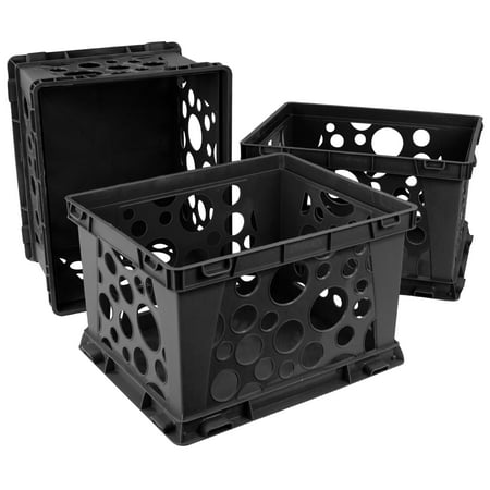 Storex Mini Crate, Black (3 units/pack)