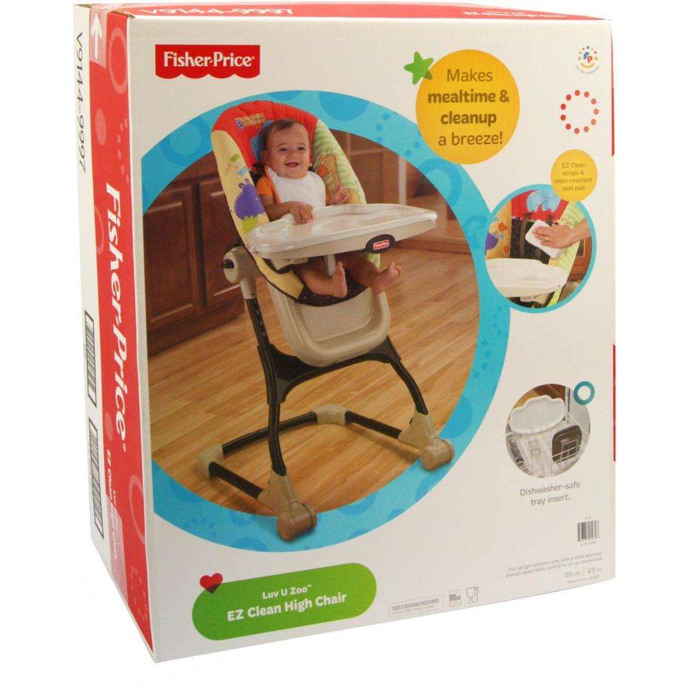 Fisher-Price - EZ Clean High Chair, Luv U Zoo - Walmart.com
