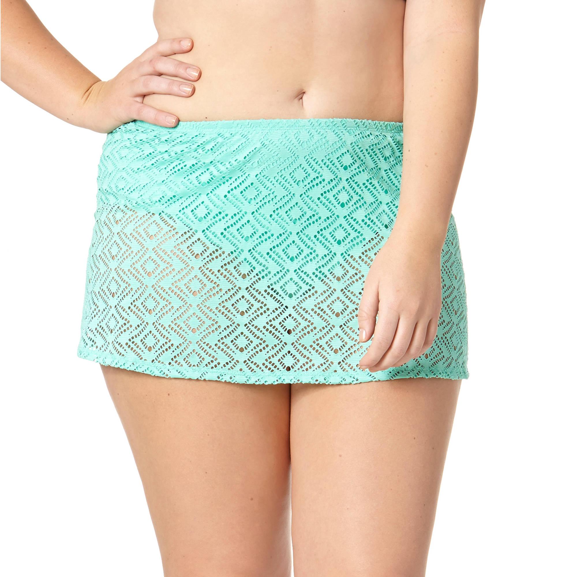 Catalina Women's Plus Crochet Skirted Bottom