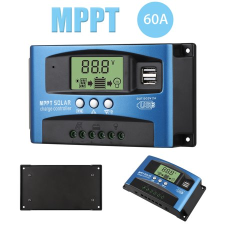 MPPT Solar Charge Controller 100A/60A/40A Solar Panel Controller,Automatic focusing MPPT tracking charging,Large-screen LCD display,SOC function,control charge current & supply power to the loads ()