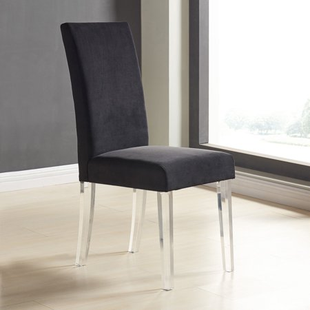 Armen Living Dalia Modern And Contemporary Dining Chair In Velvet