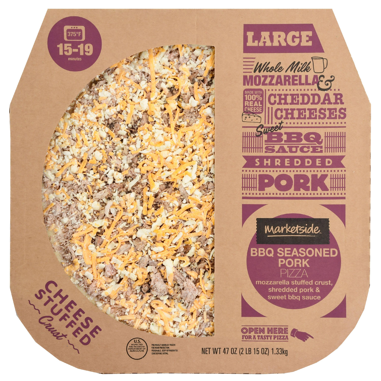 Marketside BBQ Seasoned Pork Pizza, Cheese Stuffed Crust, Large, 47 ...