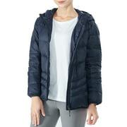 Topbuy Women's Heated Down Jacket Hooded Puffer Winter Coat Navy S /M /L /XL /XXL
