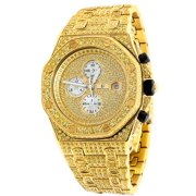 7270331ef2a64 Iced Out Stainless Steel Simulated Diamond Watch AP-01