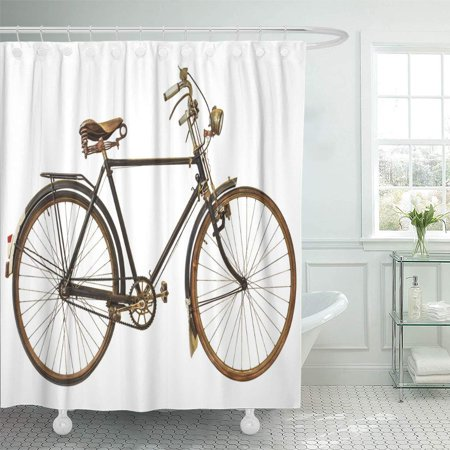 YUSDECOR Cycle Black Old Vintage Rusted Bicycle White Bike Classic Bathroom Decor Bath Shower Curtain 60x72 inch - image 1 of 1