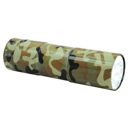 blazing ledz 900289 led green camouflage aluminum flashlight, pack of 16