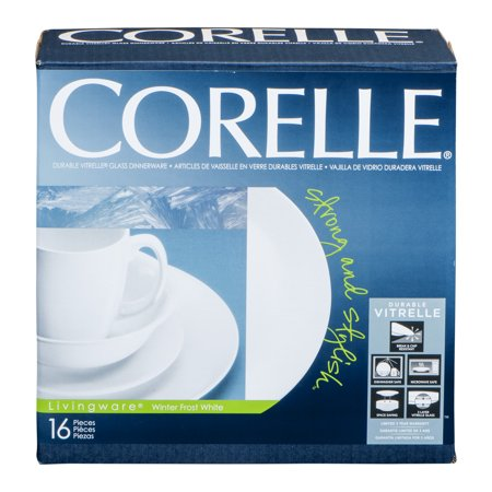 Corelle Livingware Durable Glass Dinnerware Winter Frost