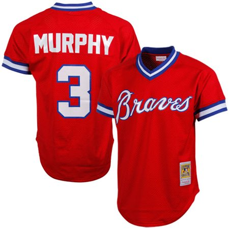 - Dale Murphy Atlanta Braves Mitchell & Ness 1980 Authentic Cooperstown Collection Mesh Batting Practice Jersey - Red