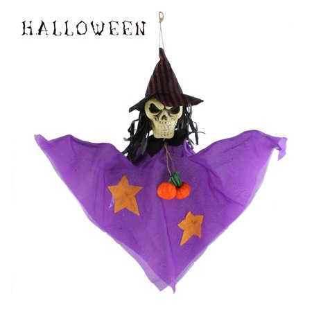 Halloween Hanging Ghost Witch Skull Ornament for House Party Favor Decoration - - Ghosts For Halloween