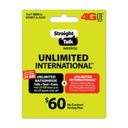 Straight Talk $60 Unlimited International 30-Day Plan (Email Delivery)