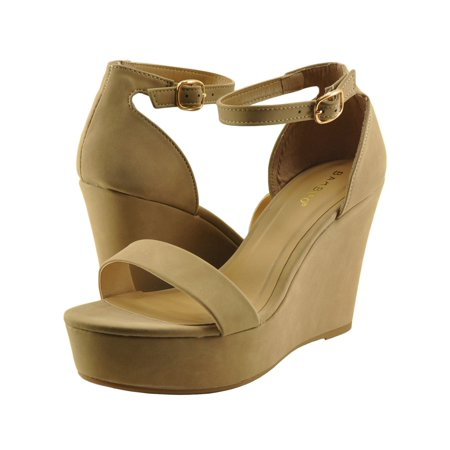 834d9f0a3c79 Bamboo - Women s Shoes Bamboo Scorpio 21S Single Strap Platform Wedge -  Walmart.com