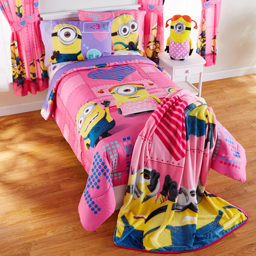 Flat Sheet ONLY Size Twin Girls Kids Bedding Universal Studios Minions Girl Buddy