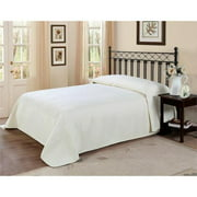 PEM America French Tile Twin Bedspread in Ivory