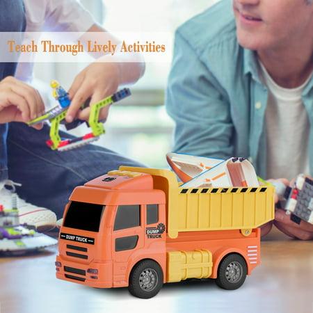 TOPINCN Creative Fire Rescue Truck Mini Car Model Inductive Children Kids Educational Toy Gifts