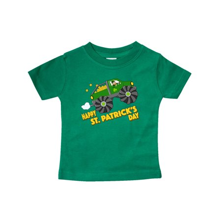 Happy St. Patrick's Day monster truck with leprechaun Baby - Girl Leprechaun