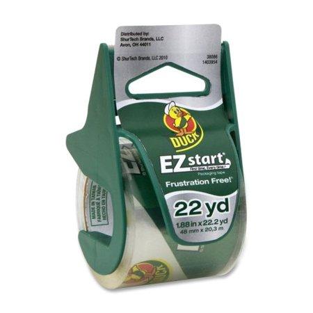 """Duck EZ Start Carton Sealing Tape/Dispenser, 1.88"""" x 22.2yds, 1 1/2"""" Core -DUC07307"""