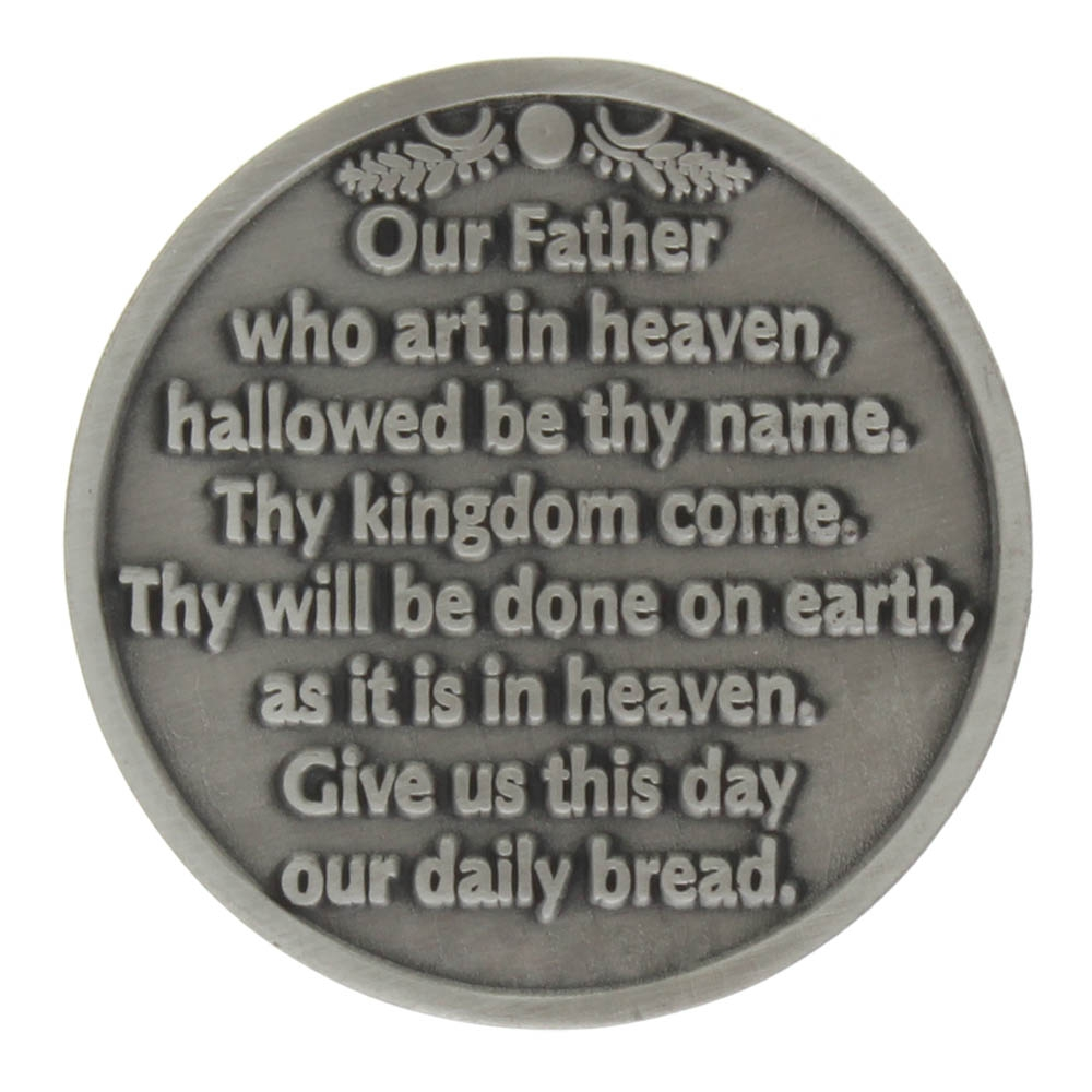 Our Father Coins Catholic Inspirational Pewter Coins (Pkg of 6)