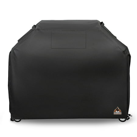 Kenmore Brands - XL BBQ Barbeque Gas Grill Cover w/ Buckles & Handle Straps. Fits Most Brands like Weber, Charbroil, Q, Blackstone, Brinkmann, Kenmore, Nexgrill, Traeger - 58 x 24 x 46 - 600 D Waterproof,Rip Proof