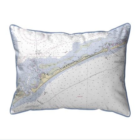 Betsy Drake SN228 11 x 14 in. Ocracoke Inlet, NC Nautical Map Small Corded Indoor & Outdoor Pillow - image 1 de 1