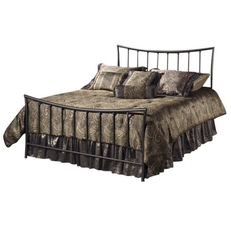 Hawthorne Collections Twin Metal Spindle Bed in Magnesium Pewter