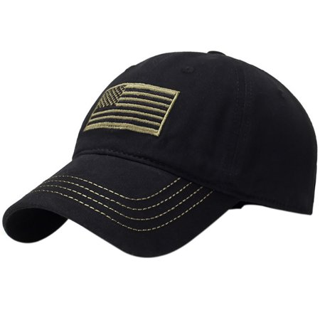 Men Women American Flag Patch Embroidered Army Sports Baseball Cap Sun (American Flag Made Of Baseballs For Sale)
