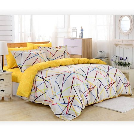 Dolce Mela  Prague Cotton 6-piece Duvet Cover Set with Fitted Sheet