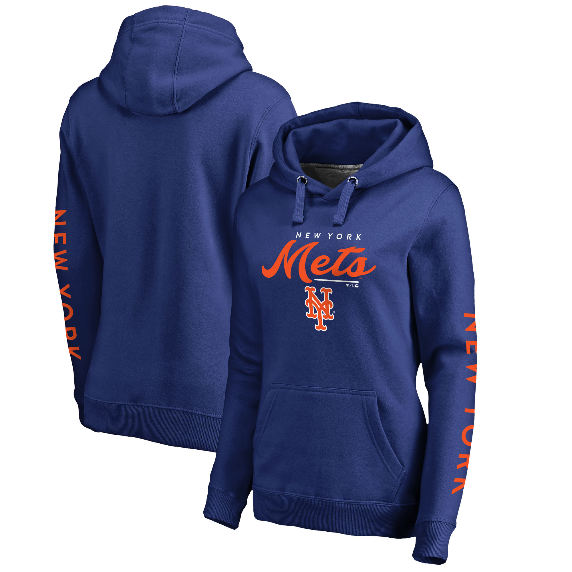 New York Mets Fanatics Branded Women's High Class Pullover Hoodie - Royal
