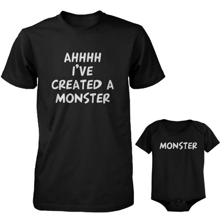 Created a Monster Dad and Baby Matching Shirt and Bodysuit](Monster Onsie)