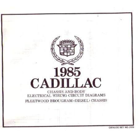 Bishko OEM Repair Maintenance Wiring Schematics Bound for Cadillac Fleetwood Brougham 1985