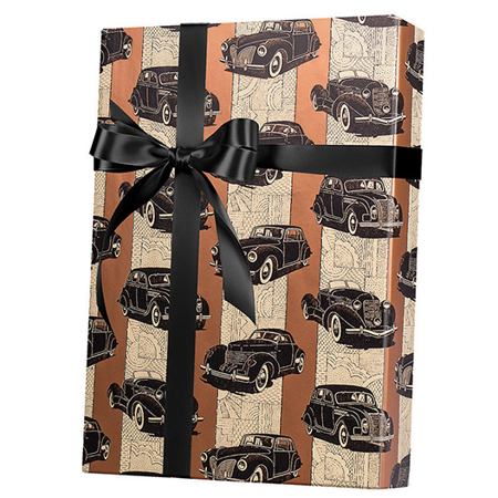 Classic Cars Gift Wrap Wrapping Paper 15ft Roll