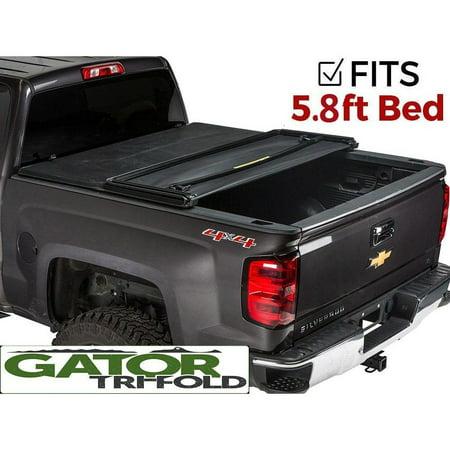 Silverado Bed Cover >> Gator Tri Fold Tonneau Truck Bed Cover Chevy Silverado Gmc Sierrara 2014 2017 5 8 Bed 59109