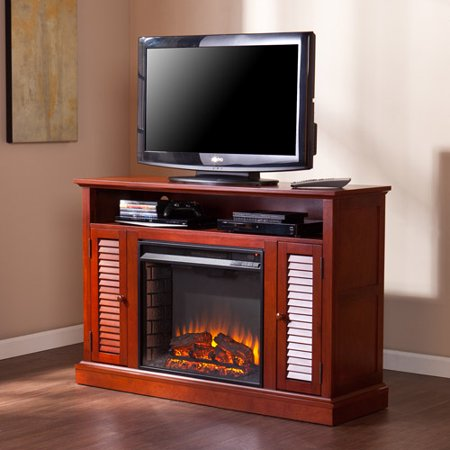 Southern Enterprises Wiltshire Electric Fireplace Media Console, for TV;s up to 48;, Classic Mahogany