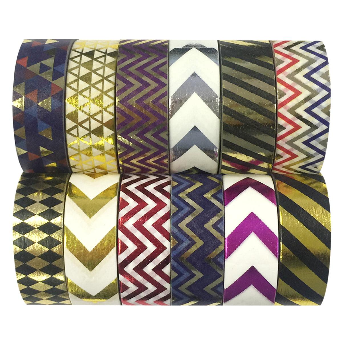 Wrapables® Washi Tapes Decorative Masking Tapes, Set of 12, ADSET67