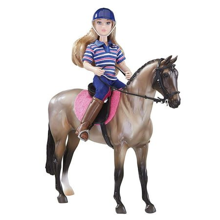 Classics Western Horse Rider Doll Set (1: 12 Scale), Includes 6 Articulated rider, horse, saddle pad, English saddle and bridle By Breyer