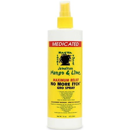 Jamaican Mango & Lime  No More Itch Gro Spray, Maximum Relief  16 oz