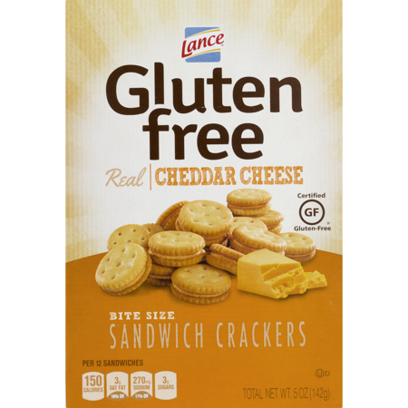 (Lance Gluten Free Sandwich Crackers, Real Cheddar Cheese, 5 oz)