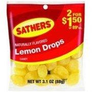 Sathers Lemon Drops 12 pack (3.1oz per pack) (Pack of 3)