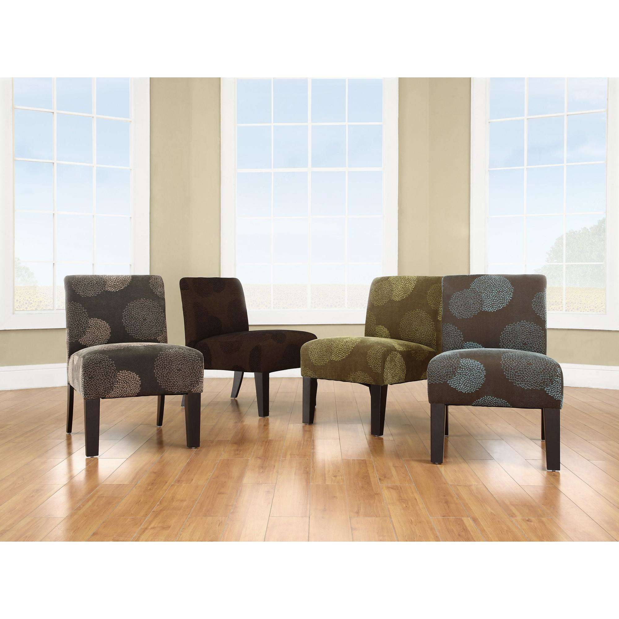 Upholstered Accent Chair Cushion Seat Sunflower Deco Living Room Home Green  New
