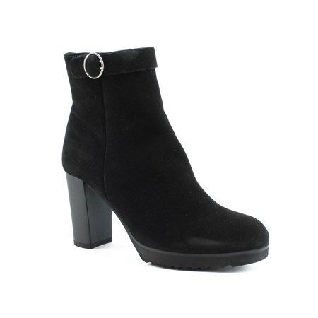 New La Canadienne Womens Moxie Black Suede Fashion Boots Size 8.5
