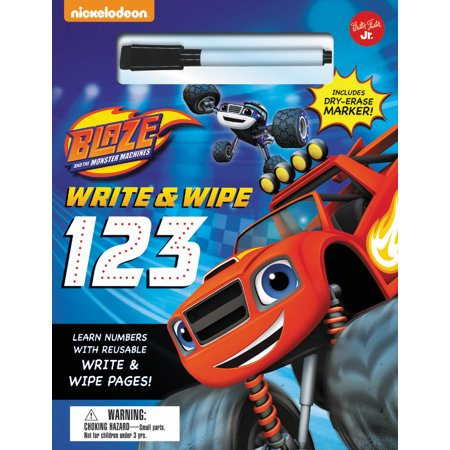 Nickelodeon's Blaze and the Monster Machines Write and Wipe 123 : Learn numbers with reusable write and wipe pages! (Number Monsters)