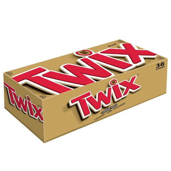 Twix Caramel Cookie Bar, 1.79 Oz, 36 Ct