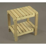 """21"""" Northern White Cedar Indoor Log Style Double-Shelved Wooden End Table"""